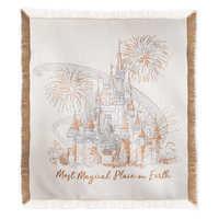 Image of Cinderella Castle Damask Throw - Walt Disney World # 1