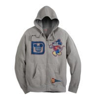 Image of Mickey Mouse Collegiate Zip-Up Hoodie for Adults - Walt Disney World # 1