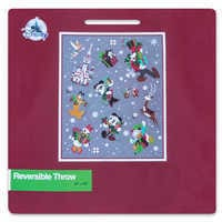 Image of Santa Mickey Mouse and Friends Reversible Throw # 6