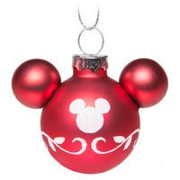 Mickey Mouse Icon Ornament Set - Red and White