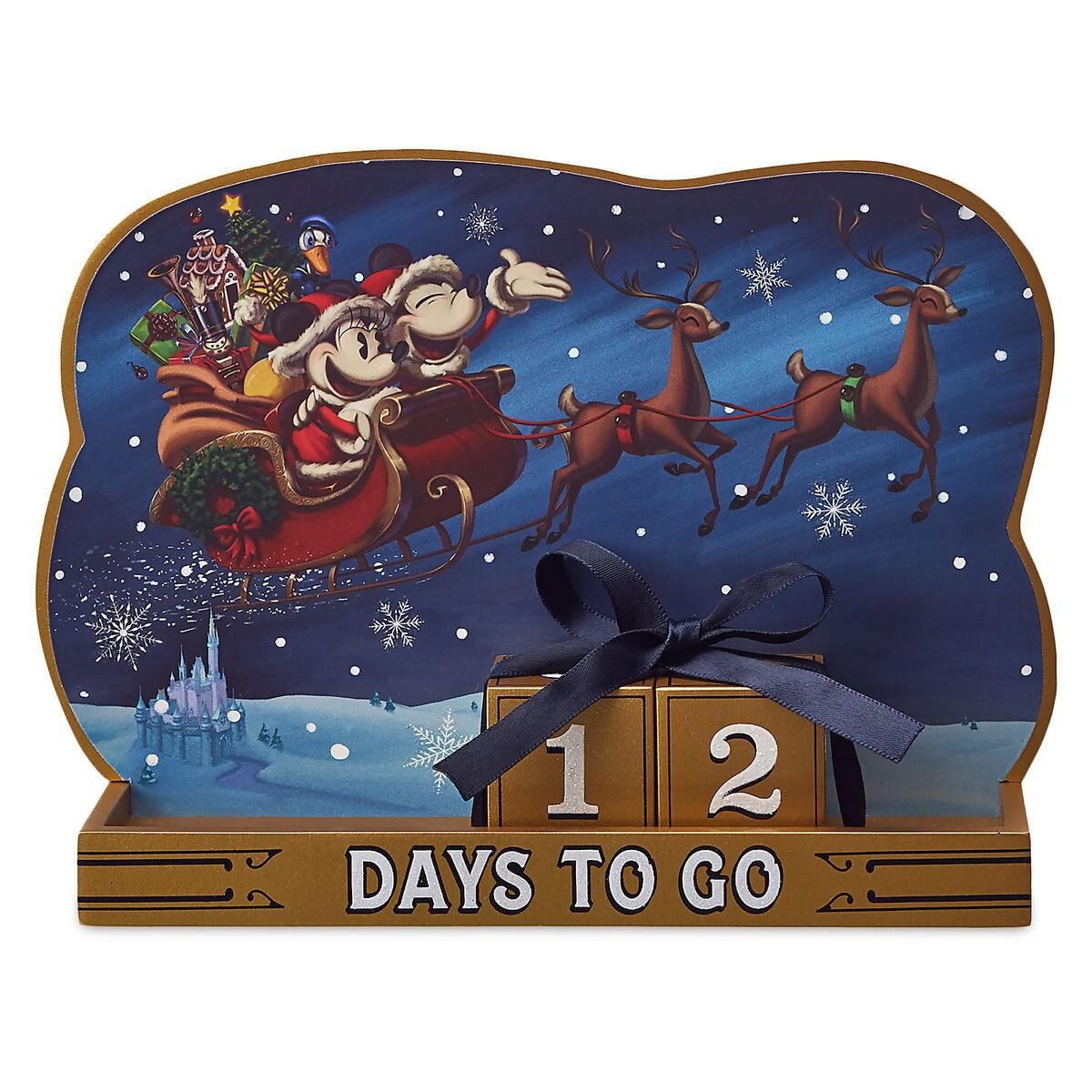 Santa Mickey And Minnie Mouse Holiday Countdown Calendar Shopdisney