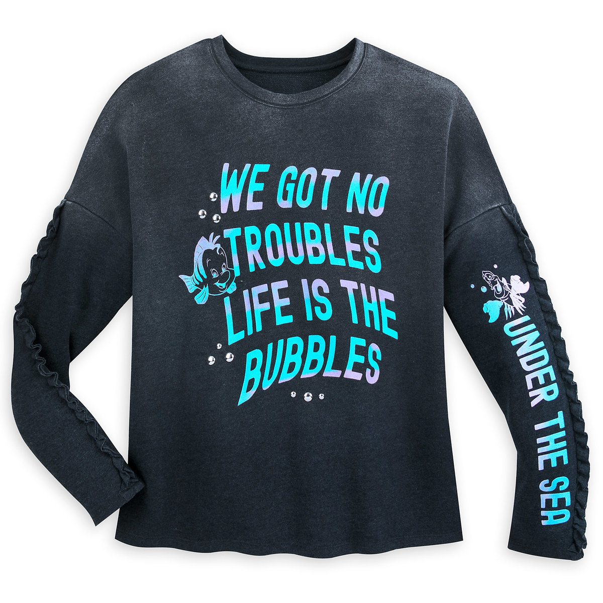 39f0c6c9 Product Image of Flounder and Sebastian Long Sleeve Pullover for Women - The  Little Mermaid #