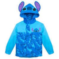 Image of Stitch Packable Rain Jacket and Attached Carry Bag for Kids # 1