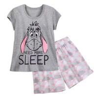 Image of Eeyore Short Sleep Set for Women # 1