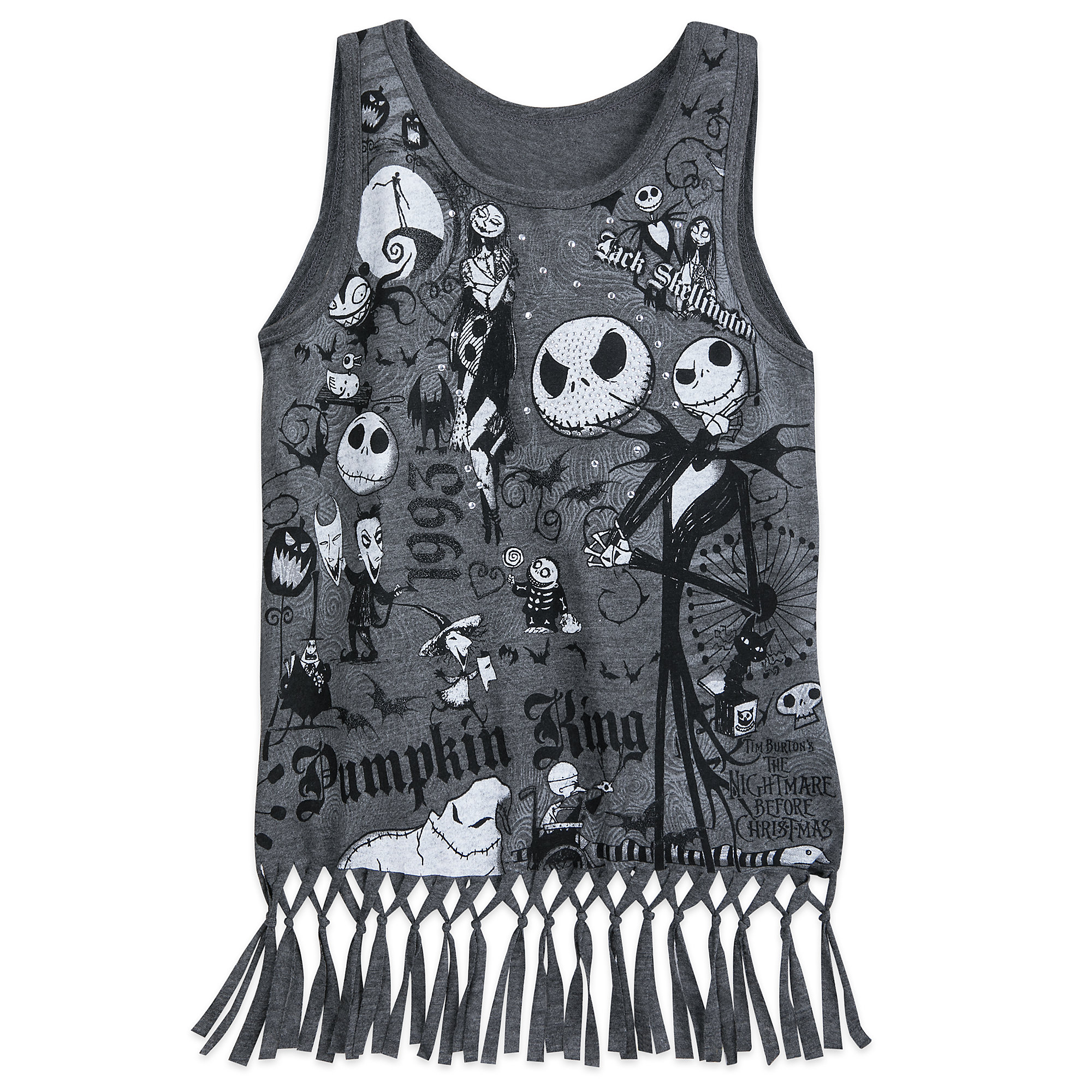 Nightmare Before Christmas Fringed Tank Top for Girls