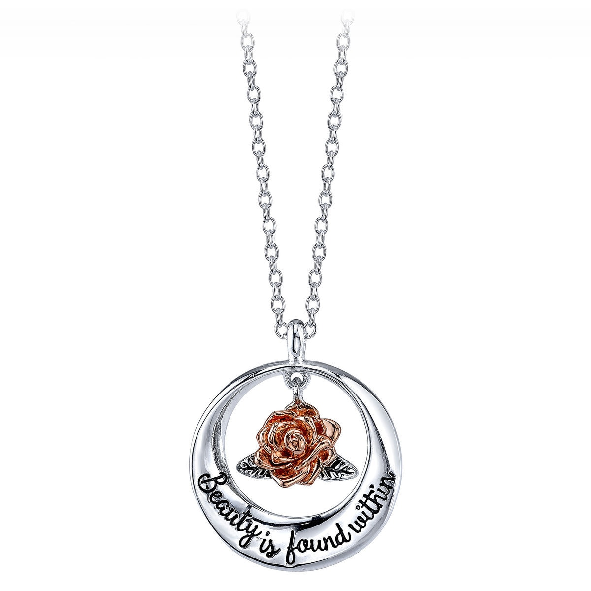 beast rose lilipearl gold the and products disney necklace beauty chain