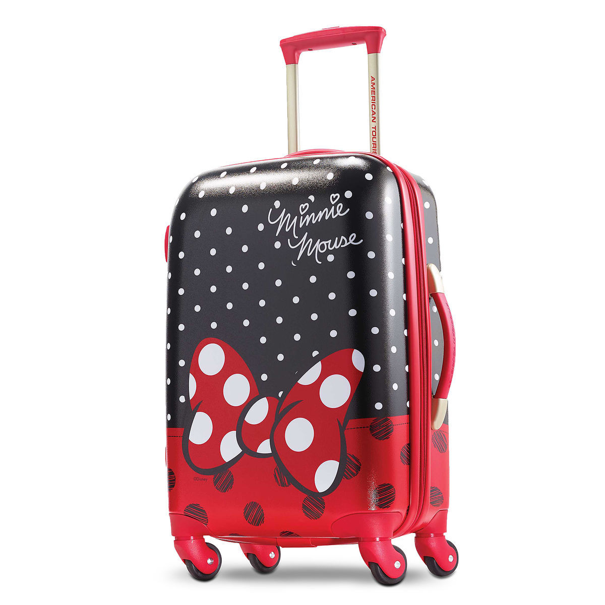 minnie mouse bow luggage american tourister small shopdisney
