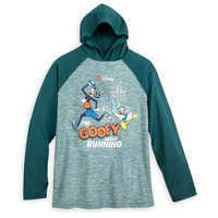 Image of Goofy runDisney Long Sleeve Hooded Performance Top for Adults # 1