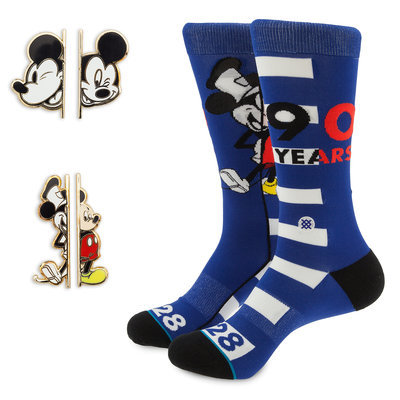 Mickey Mouse 90th Anniversary Socks and Pins Box Set by Stance Official shopDisney