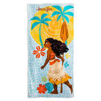 Image of Moana Beach Towel for Kids - Personalizable # 1