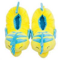 Image of Flounder Plush Slippers for Kids - The Little Mermaid # 3