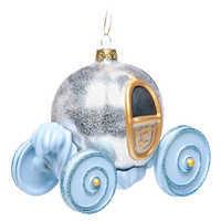 Image of Cinderella Pumpkin Carriage Glass Ornament # 2