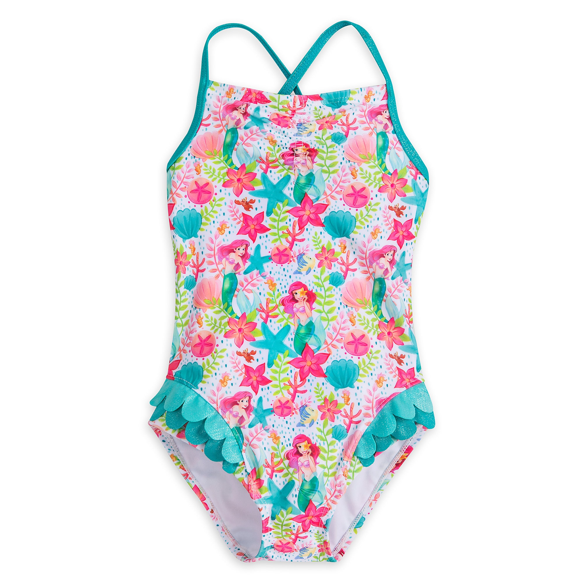 5aa15992df802 Ariel Swimsuit for Girls | shopDisney