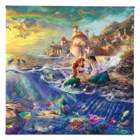 Image of The Little Mermaid Gallery Wrapped Canvas by Thomas Kinkade # 1