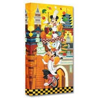 Image of Mickey Mouse and Friends ''A World of Flavor'' Giclée on Canvas by Tim Rogerson # 1