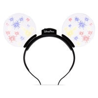 Image of Mickey Mouse Light-Up Fireworks Ears Headband # 1