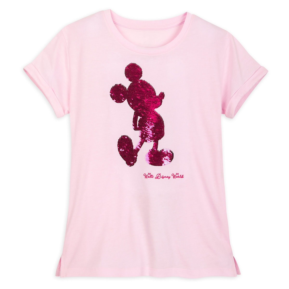 62005fc0e119 Product Image of Mickey Mouse Reversible Sequin T-Shirt for Women - Walt  Disney World