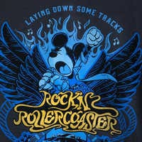 Image of Mickey Mouse Rock 'n Roller Coaster Lace-Up T-Shirt for Women # 4