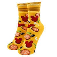 Image of Mickey Mouse Pizza Socks for Kids # 1