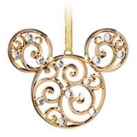 Mickey Mouse Icon Filigree Ornament - Gold