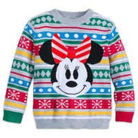 Image of Minnie Mouse Family Holiday Sweater for Girls # 1