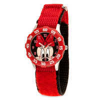Image of Minnie Mouse Stainless Steel Time Teacher Watch - Kids # 1
