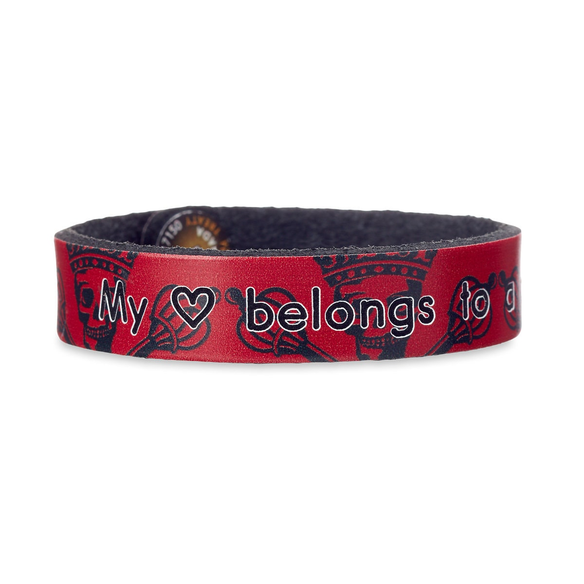 Product Image Of Pirates The Caribbean Skull Leather Bracelet Personalizable 1