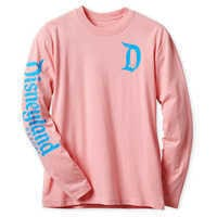Image of Disneyland Logo Long Sleeve Tee for Adults - Pink # 1