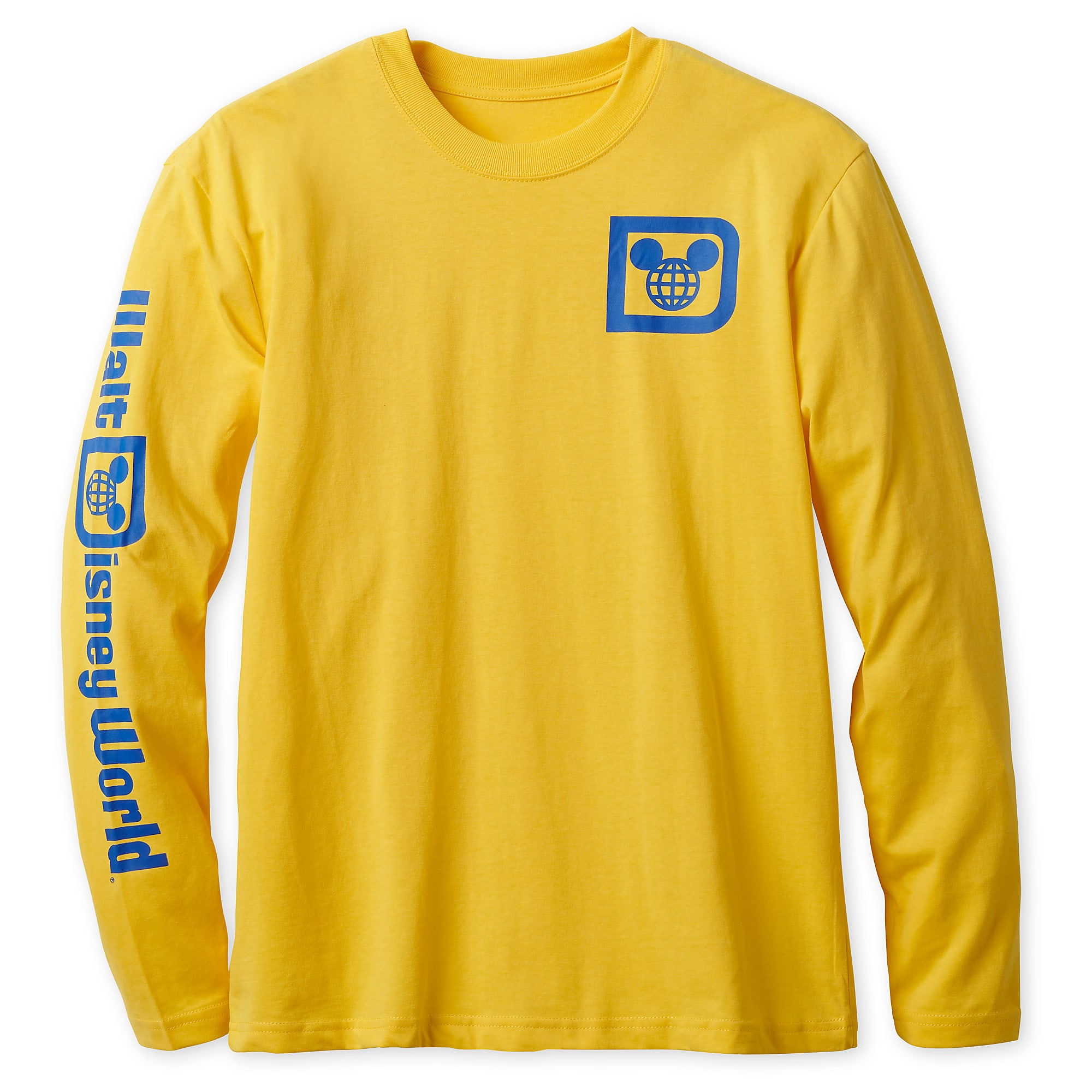 Walt Disney World Logo Long Sleeve Tee for Adults - Yellow ...
