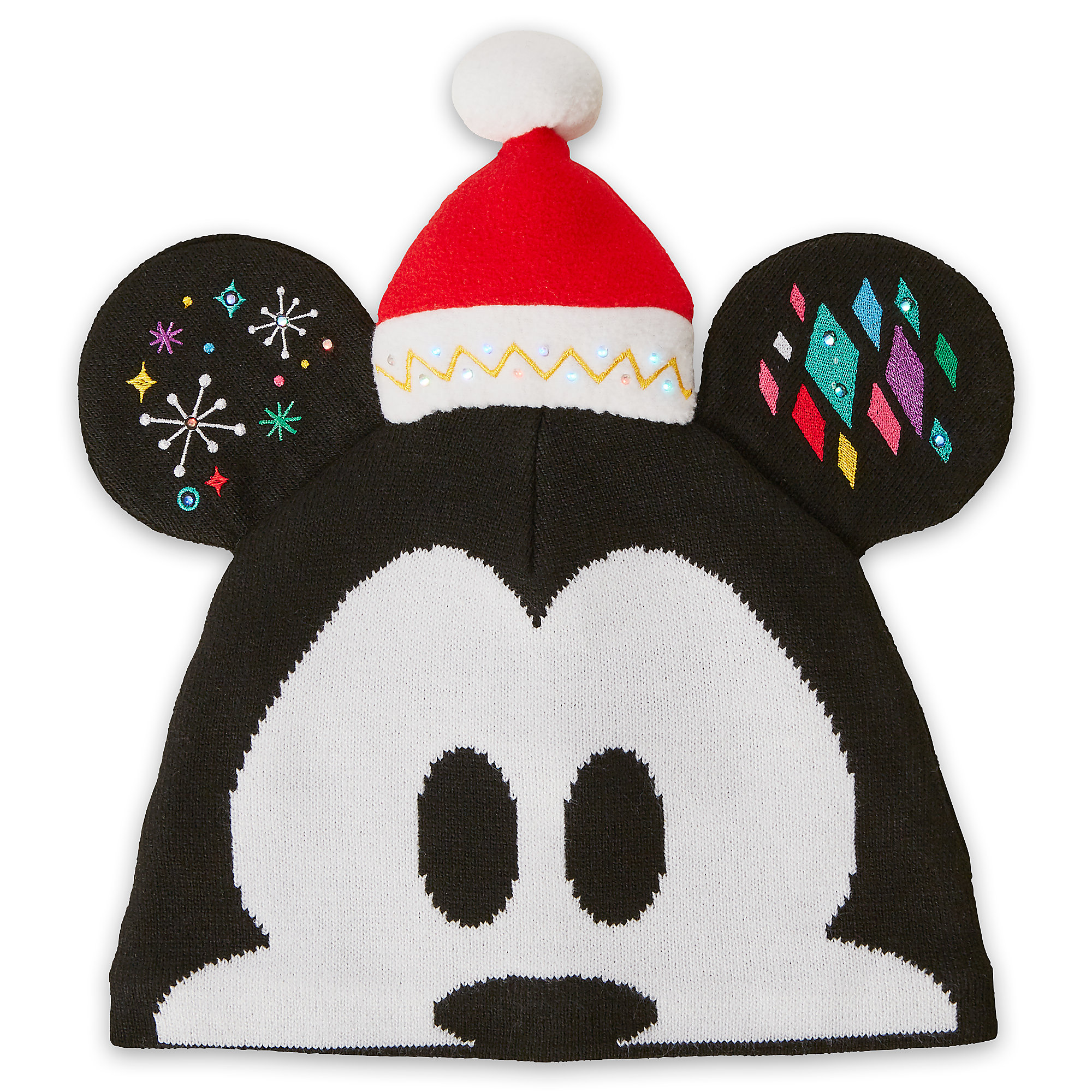 Mickey Mouse Light-Up Knit Holiday Ear Hat for Adults  8f41325bafd5