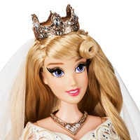 Image of Aurora and Prince Phillip Limited Edition Wedding Doll Set - Sleeping Beauty 60th Anniversary - 17'' # 4