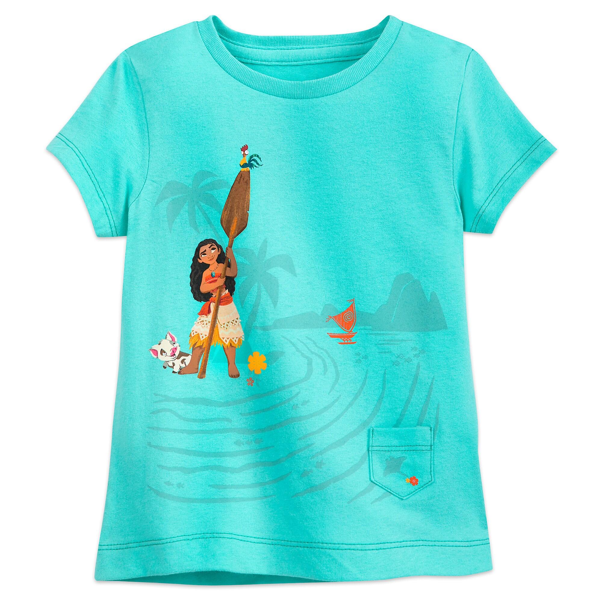 Moana T-Shirt for Girls - Sea Green