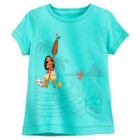 Image of Moana T-Shirt for Girls - Sea Green # 1