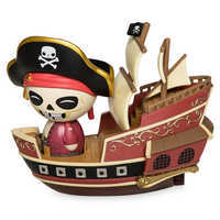 Image of Jolly Roger with Pirate Ship Dorbz Ridez Vinyl Figure Set by Funko - Pirates of the Caribbean # 1