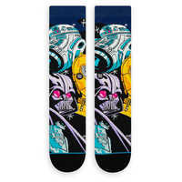 Image of Star Wars Warped R2-D2 Socks for Adults by Stance # 2