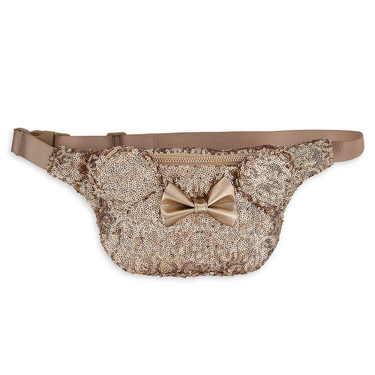 add5b63c094 Product Image of Minnie Mouse Sequined Hip Pack by Loungefly - Rose Gold   1