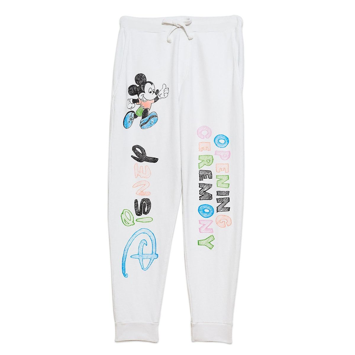b53afb9a300736 Product Image of Mickey Mouse Sweatpants for Adults by Opening Ceremony -  White # 1