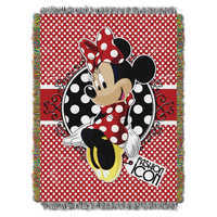Image of Minnie Mouse Woven Tapestry Throw # 1