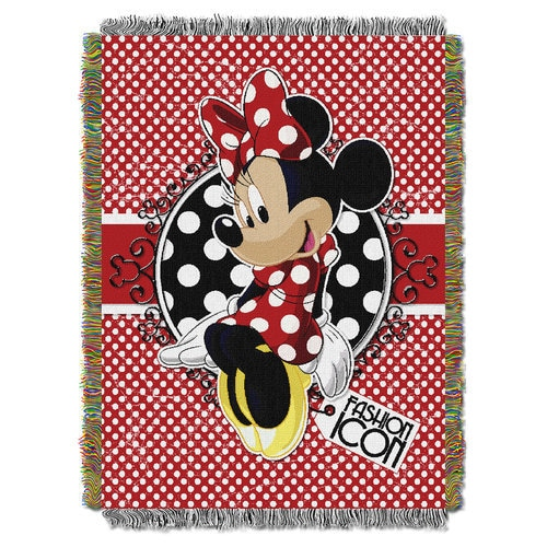 Minnie Mouse Woven Tapestry Throw Shopdisney