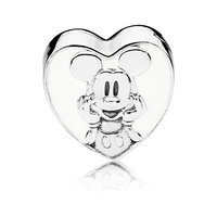 Image of Mickey Mouse Vintage Heart Charm by PANDORA # 3