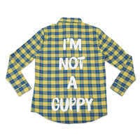 Image of Flounder Flannel Shirt for Adults by Cakeworthy - The Little Mermaid # 1