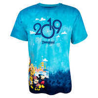 Image of Mickey Mouse and Friends Tie-Dye T-Shirt for Adults - Disneyland 2019 # 1