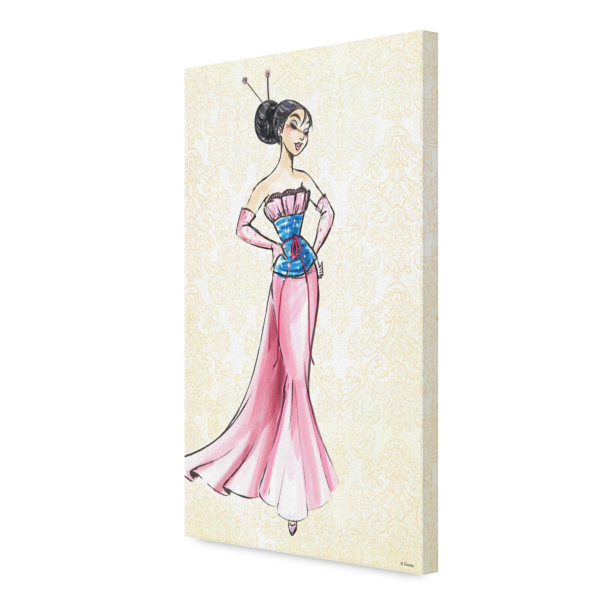 Mulan Canvas Print - Art of Princess Designer Collection