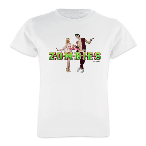 ZOMBIES: Zed & Addison Holding Hands T-Shirt for Girls - Customizable