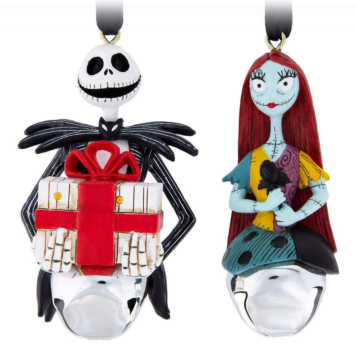 Jack Skellington and Sally Bell Ornament Set - Tim Burton\'s The ...