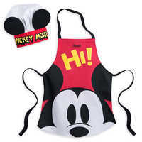 Image of Mickey Mouse Apron and Hat Set for Kids - Disney Eats - Personalizable # 1