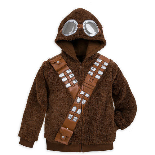 Chewbacca Costume Fleece Hoodie For Boys Solo A Star