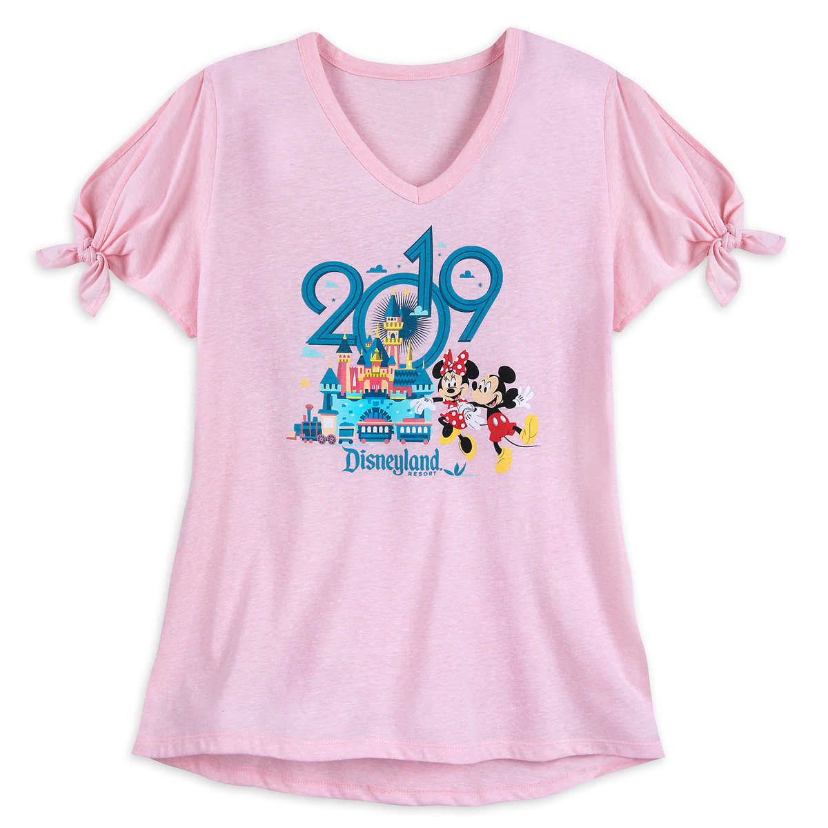 5b46605f Product Image of Mickey and Minnie Mouse T-Shirt for Women - Disneyland  2019 #
