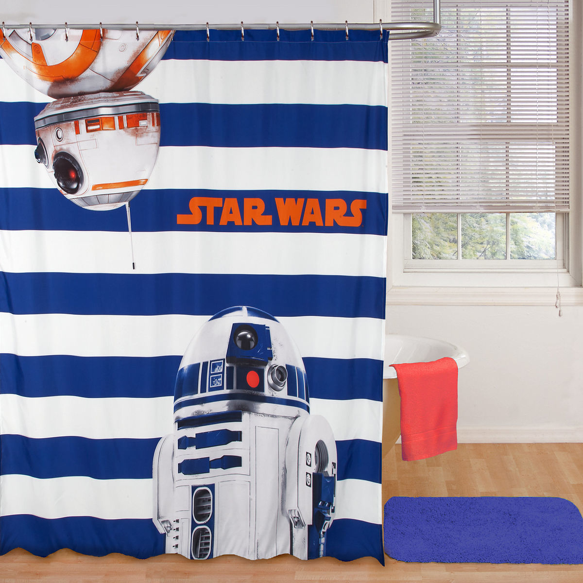Product Image Of R2 D2 And BB 8 Shower Curtain