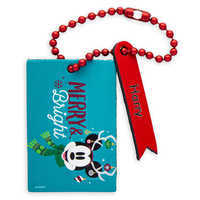 Image of Mickey Mouse ''Merry & Bright'' Luggage Tag - Personalizable # 1